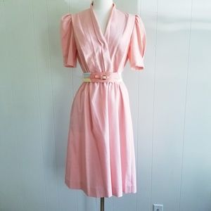 1980s Sunshine Alley Peach Dress